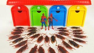 SpiderMan, PJ Masks, Thomas & Friends, Disney Cars, Tayo Bus Garage Toy, Cockroach Monster Story