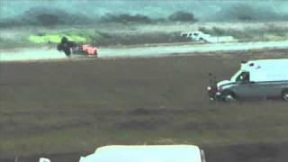 Underground Racing Twin Turbo Gallardo Crashes At 200+MPH Texas Mile