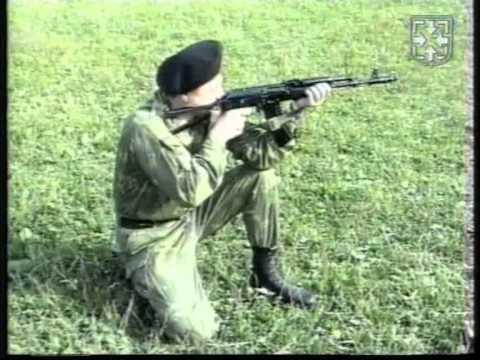 Изготовка для стрельбы с колена с ремнем АК