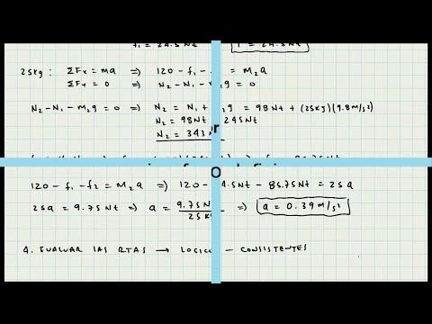 Leyes de Newton - Ejercicio de Aplicación - Dinámica - Video 029