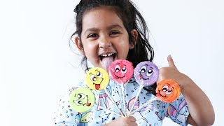 Learn Colours And Numbers With Lollipops | Alisa And Alice Fun Tube
