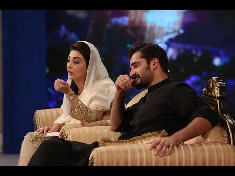 Ramzan Hamara Emaan Iftar Transmission 8 June 2016 - Hamza Ali Abbasi & Ayesha Khan - Aaj News