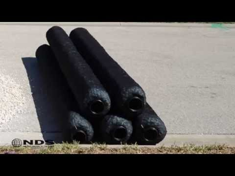 EZ Flow Installation gravel free french drain
