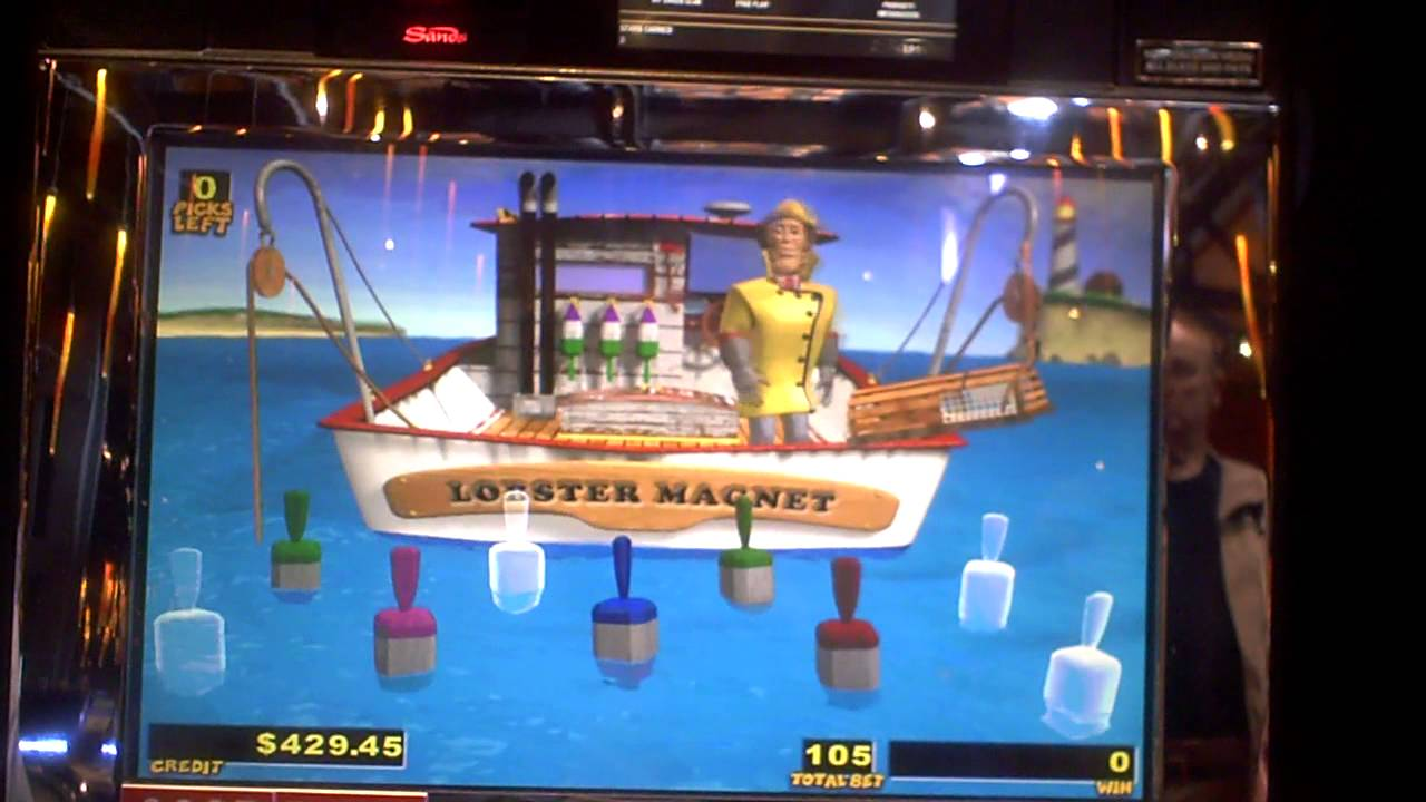 Lucky Larry's Lobstermania slot bonus win on nickels at