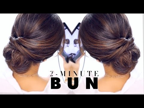 2-Minute Elegant BUN Hairstyle  ★ EASY Updo Hairstyles