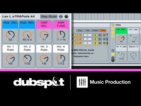 Ableton Tutorial: Creating an Instrument Rack for Drum Programming Pt 2 - Trap Hi-Hats