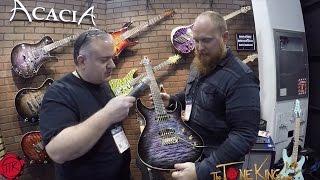 Best Usa Made Guitars  You Decide   Acacia Guitars  Full Walk Thru Winter Namm 2017