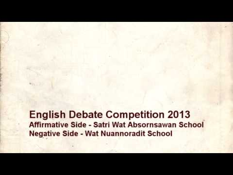 English Debate Competition 2013 | Leader of Negative Side.