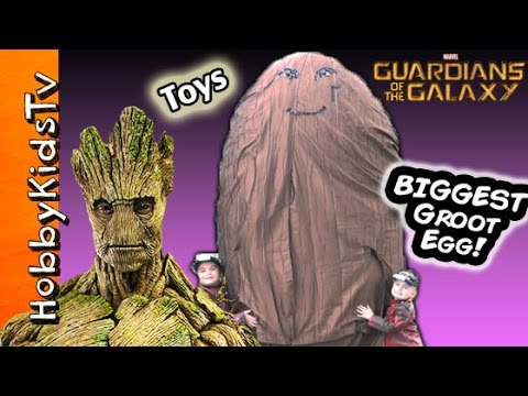 Worlds Biggest Surprise GROOT Egg! Marvel Guardians of the Galaxy Play Doh Surprise by HobbyKidsTV
