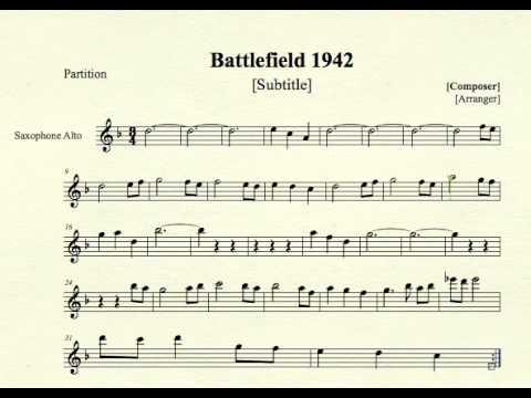 Battlefield 1942 for Alto Sax - YouTube
