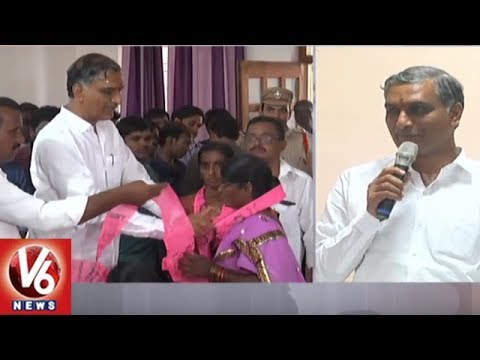 Advocates Joins TRS Party In the Presence Of Minister Harish Rao In Siddipet | V6 News
