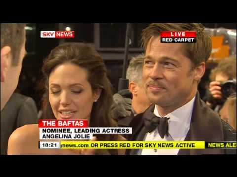 Angelina Jolie & Brad Pitt BAFTA Red Carpet Interview