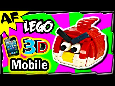 3D Mobile Lego Angry Birds RED BIRD Animated Review with Building Instructions