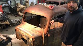 RAT ROD TIP OF THE DAY: FULL CHOP WE DID IN 3 HOURS ON A 46 FORD CAB.