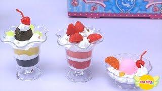 ĐỒ CHƠI NHÀ HÀNG | Tự làm kem hoa quả mời bạn bè