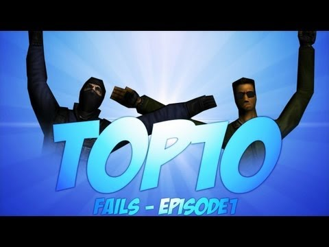 DomenikTV - TOP 10 FAILS with commentary EP.1 CS 1.6