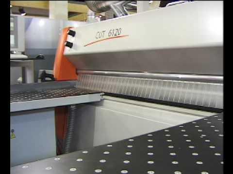Holz-Her CUT 6120 nyomógerendás lapszabász formatizáló gép