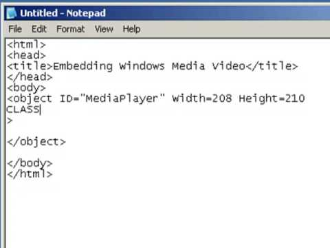 How to add video or audio to your website using notepad youtube