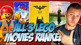 All 3 Lego Movies Ranked Worst to Best (w/ The Lego Ninjago Movie)