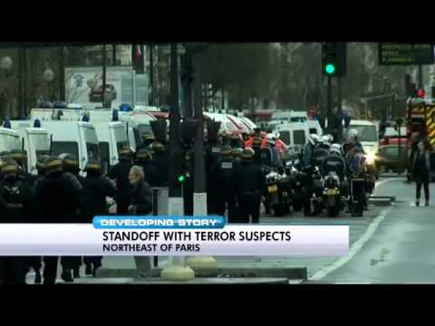 France Islamic State Terrorist Cell holding hostages two locations January 2015 Breaking News