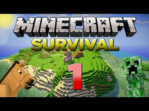 Minecraft Xbox: Survival Lets Play Part 1 XBOX 360 EDITION A NEW SERIES W Commentary