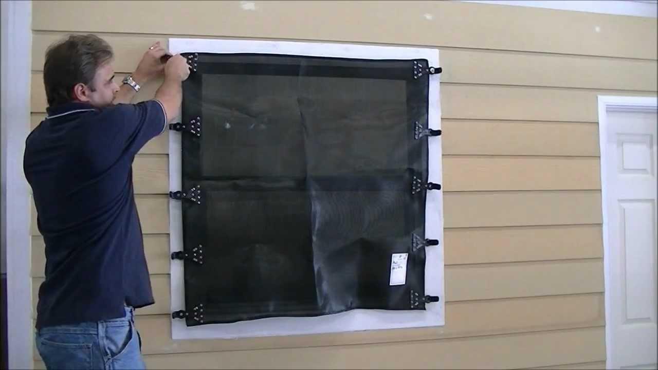 Hurricane Fabric Installation Video Youtube