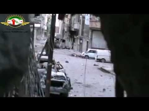 Homs-al Qousor heavy shooting by Assad militias...! where is ceasefire plan application20-5-2012.