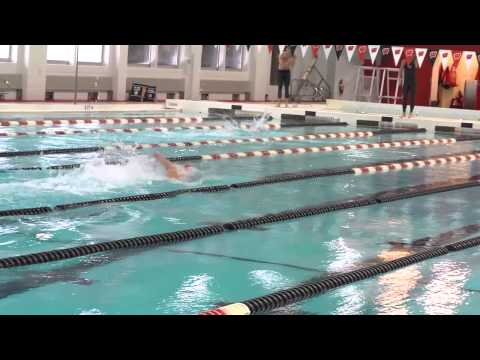Anders Holm Swims at Wisconsin