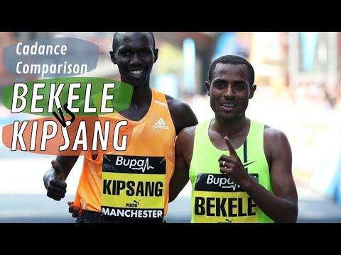 Kenenisa Bekele vs Wilson Kipsang cadence