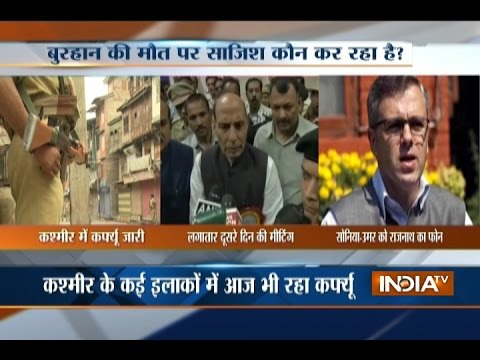 Kashmir Violence: Rajnath Singh Speaks Omar Abdullah, Sonia Gandhi; Appeals for Peace