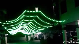 My work  navratri  lighting decoration  from jhangirpura  surat