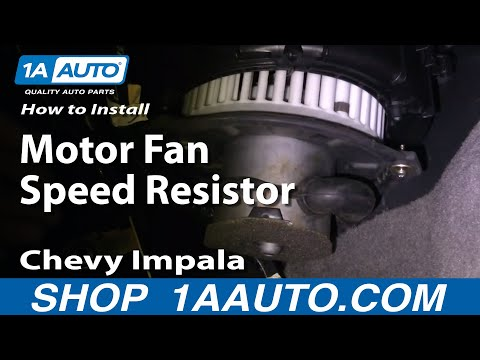 How To Install Replace Blower Motor Fan Speed Resistor Chevy Impala 00-03 1AAuto.com