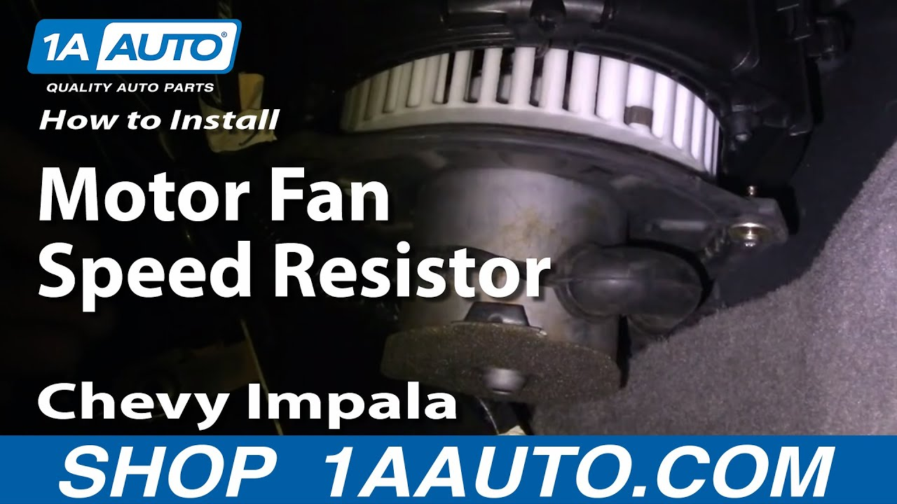 how to install replace blower motor fan speed resistor