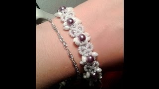 Perfect Imperfections Bracelet Beading Tutorial by HoneyBeads1 (with magatama beads)