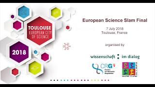 "European Science Slam Final 2018: ""Household effects in space - bending light to find aliens"""