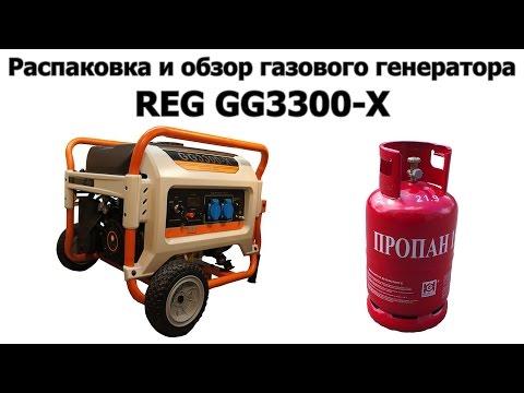 Распаковка и обзор газового генератора REG GG3300-X