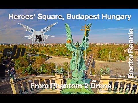 Heroes Square,  Budapest, Hungary (Drone Travel Video) - Magyarország, Hősör tere (légifelvétel)