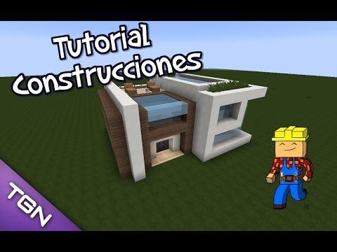 Minecraft: Como hacer una Casa Moderna #2 Tutoriales Construcciones