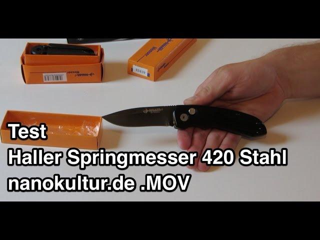 Test Haller Springmesser 420 Stahl nanokultur.de