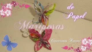 Mariposas de Papel Reciclado/DIY: Paper Butterfly Tutorial