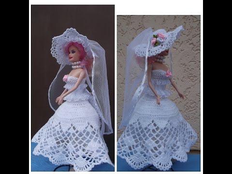 Вязание крючком для барби свадебное платье 57