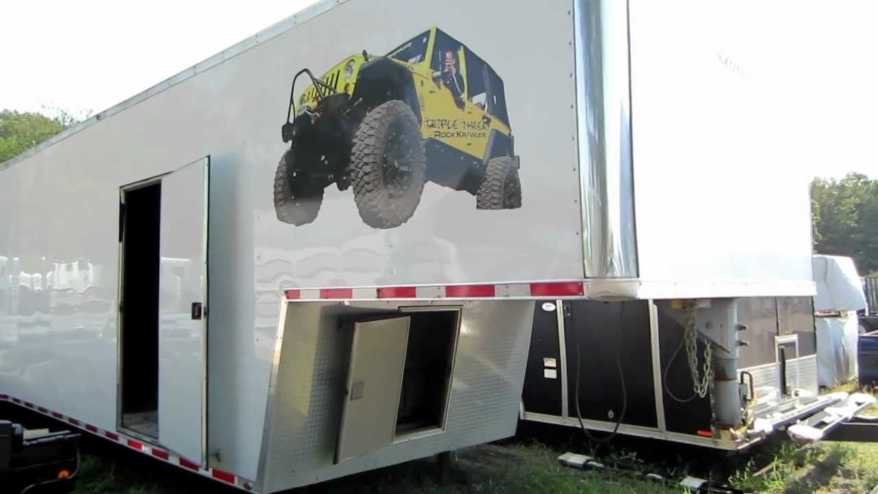 Race Car For Sale >> The Trailer Depot- Trade In Motiv 48 foot enclosed trailer - YouTube
