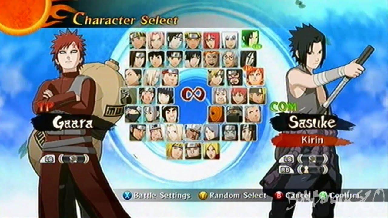 Naruto Shippuden Ultimate Ninja Storm 2 All Characters