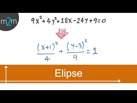 Convertir una ecuación general a ordinaria de una elipse  (no origen)