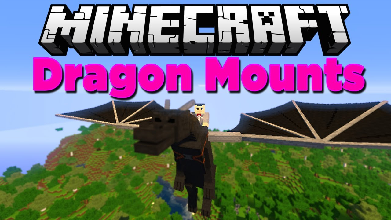 Мод Dragon Mounts для minecraft - покатайся на драконе!