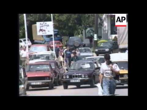 BOSNIA: TUZLA: PROTEST AGAINST GOVERNMENT'S FAILURE TO PAY PENSIONS