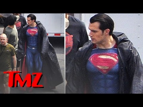 Oh My God It's Henry Cavill Dressed as Superman!!