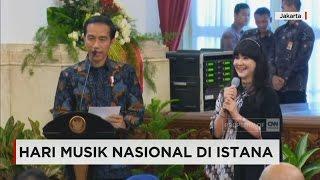 Presiden Joko Widodo Musisi Tanah Air Peringati Hari Musik Nasional Di Istana