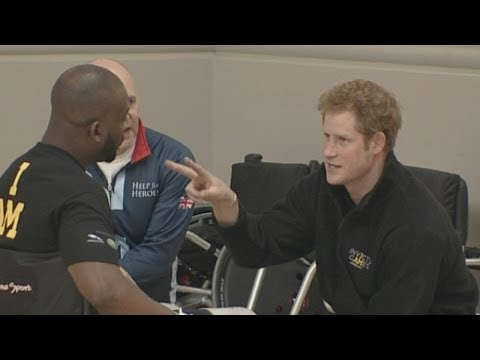 Prince Harry watches Invictus Games selection event