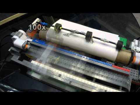 Lego Mindstorms NXT printing Albert Einstein